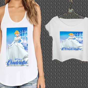 disney cinderella For Woman Tank Top , Man Tank Top / Crop Shirt, Sexy Shirt,Cropped Shirt,Crop Tshirt Women,Crop Shirt Women S, M, L, XL, 2XL**