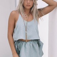 Flamenco Beach Sage Crop & Short Set