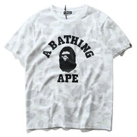 spbest A Bathing Ape City Camo College T-shirt-1