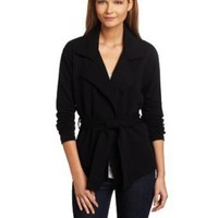 Lilla P Women's French Terry Long Sleeve Wrap Front Trench Top