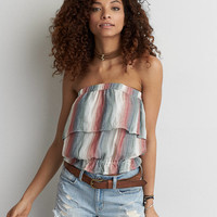 AEO Ruffle Tube Top , Multi