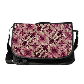 Floral Grunge Messenger Bag