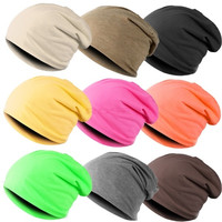 Women Men Slouch Winter Knit Long Beanie Hat Ski Warm Cuff Cap Hip-Hop 18280 Apparel & Accessories = 1652212996