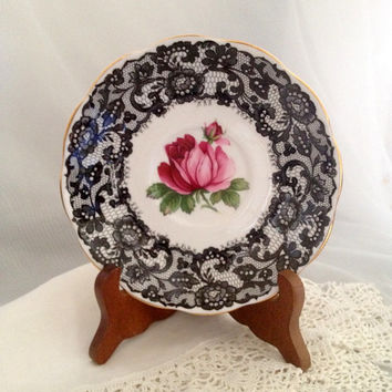 RARE Senorita pattern Royal Albert Bone China Tea Saucer circa 1950s - Hard to Find Replacement