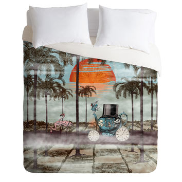Belle13 Alice Goes To California Duvet Cover