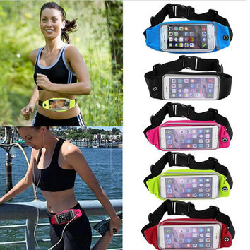 Universal Sport Case Waterproof Sport Running Waist Band Bag Cover Outdoor Fitness Pouch For Lenovo A5000 A2800 A338T A388T