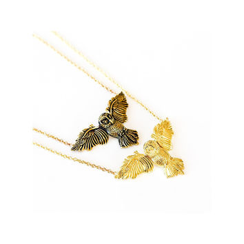 Who gives a hoot necklace
