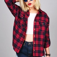 Pleasant Plaid Button Down | Trendy Tops at Pink Ice