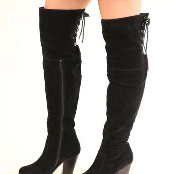 OTK LACE UP BOOTS - BLACK