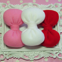 3 Poofy Hair Bows Gift Set! Fits Women, Teens and Girls