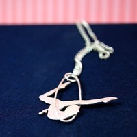 Circus Trapeze Artist Sterling Silver Pendant by by MarKhed