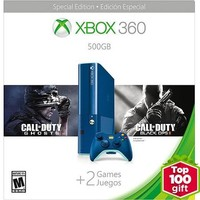 Xbox 360 500GB Special Edition Blue Console Bundle with Call of Duty Ghosts and Call of Duty Black Ops 2 - Walmart Exclusive - Walmart.com