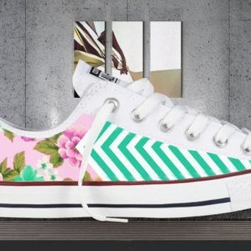 all colors floral chevron printed converse all star chuck taylor sneakers unisex