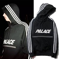 Palace Woman Men Fashion Reflective Logo Top Sweater Pullover Hoodie