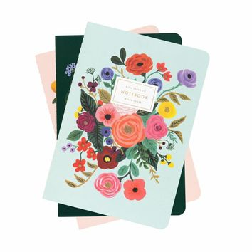 Garden Party Set of 3 Stitched Notebooks