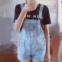2016 Summer Style Denim Shorts Korean Womens Jumpsuit Denim Overalls Casual Skinny Girls Jean Pants Vintage rompers
