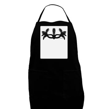Masquerade Mask Silhouette Panel Dark Adult Apron by TooLoud