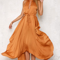 Gypsy Lust Maxi Dress Rust