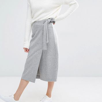 Sportmax Code Palpati Jersey Cross-Over Skirt at asos.com