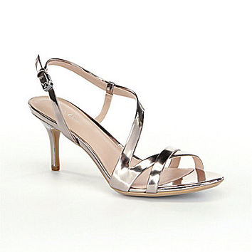 Calvin Klein Lorren Metallic Dress Sandals - Hematite