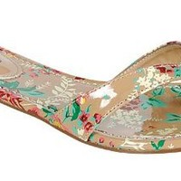 IVY 36 Womens Floral Thong Flat Sandals Blush