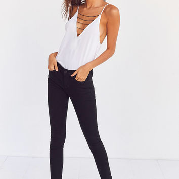 Silence + Noise Farin Deep-V Chain Strap Cami | Urban Outfitters