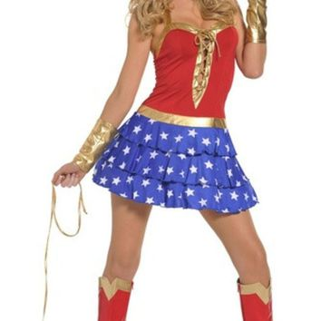 LMFUG3 Role-playing games uniforms superman costume wonder woman dress uniform temptation (Size: M) = 1945846084