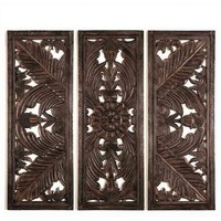 Tahiti Carved Wood Panels