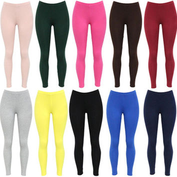 Women's Leggings 2016 Autumn Winter Hot Sale Solid Color Fitness Leggings for Women Bottoming Clothes Skinny Leggings 10 Colors