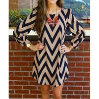 Fashionable Color Block Zigzag Printed Dress For Women | Kitty's Clawset