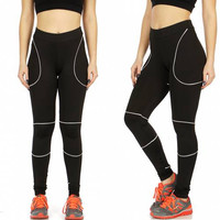 Workout leggings w/ contract piping & media pocket S-XL in 4 Colors