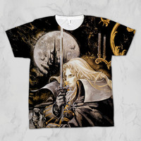 Castlevania: Symphony of the Night Alucard Unisex Video Game Sublimation T-shirt