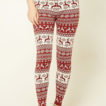 Fair Isle Reindeer Leggings