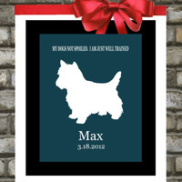 Personalized Pet Portrait. Custom Dog Silhouette. Unique Pet Gifts. ANY Breed. Print. Puppy. Dog Art. Best. Animal Lover