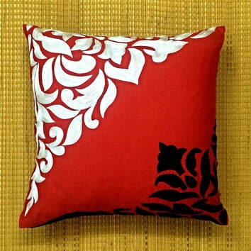Decorative Throw Pillow cover Cushion Floral Embroidery Linen Pillow Couch Sofa Bed Toss Accent Euro Sham Pillow Home Decor Living All Sizes