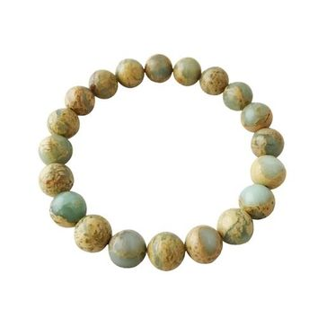 8mm Colorful Aqua Terra Jasper Bracelet ~ Peace