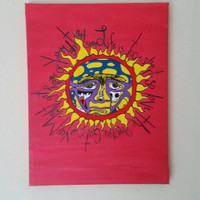 11x14 Acrylic Sublime Painting on Canvas - Wall Art, Music, Band Logo, Life Is Too Short