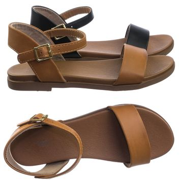 Meadow Super Comfortable Flexible Soft Rubber Padded Insole Women's Flat Sandal