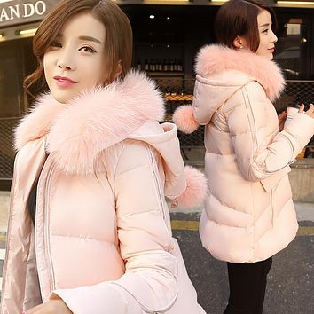 Winter Long Down Jackets Female A Type Cape Down Coats Pregnant Women's Parkas Snow Outerwears YR14