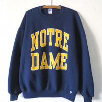 90s Notre Dame University Sweatshirt - Throwback NCAA College Sports Jumper - Mens size XL