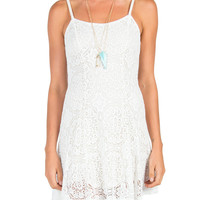 Crochet Fit and Flare Tank Dress - Large