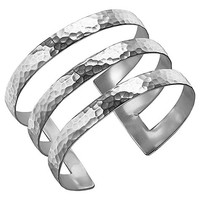 Buy Dower & Hall Sterling Silver Triple Cuff, Silver, 40mm | John Lewis