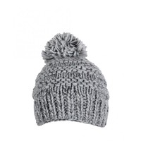 Barts Womens Grey Jasmin Plain Pompom Knitted Beanie Hat