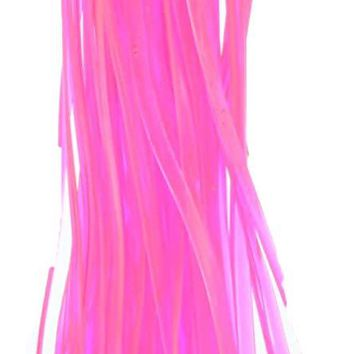 CraftLace Hank Craft Lace for Lanyards and Craft Work, Trans Neon Pink