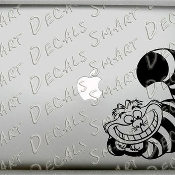 Cheshire Cat Macbook Laptop small Vinyl Decal by SmartDecals