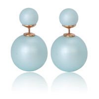 Gum Tee Mise en Style Tribal Earrings - Matte Blue Sky