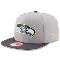 Men's Seattle Seahawks New Era Gray/Graphite Gold Collection Original Fit 9FIFTY Snapback Adjustable Hat