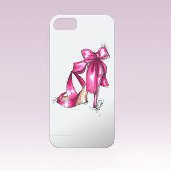 Pink high heels Iphone Case, Iphone 6 case , Iphone 5 case, Iphone 4 case, custom iphone cover