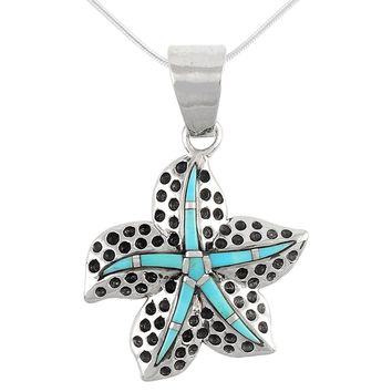 Turquoise Pendant Necklace in Sterling Silver (SELECT from different styles)