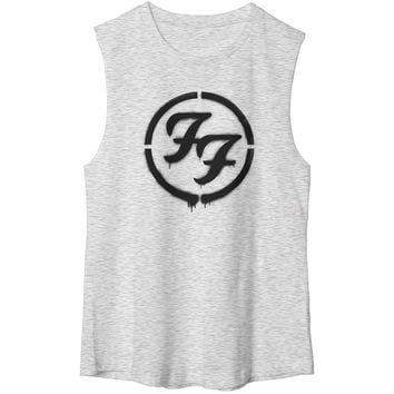 Foo Fighters Women's  Rock's Not Dead Womens Tank Heather Rockabilia